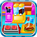 Fast food restaurant icon