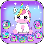 Pink Unicorn Theme Launcher