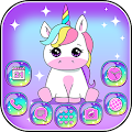Pink Unicorn Theme Launcher APK