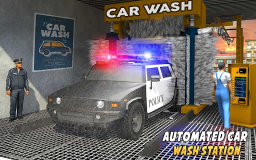 Police Car Wash Service: Gas Station Parking Games 1.2 screenshots 7