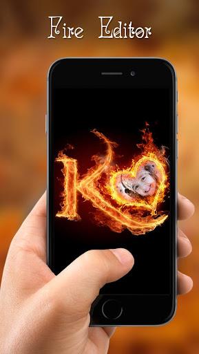 Fire Text Photo Frame  screenshots 5
