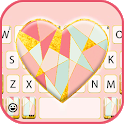Coral Geomertric Heart Keyboard Theme icon