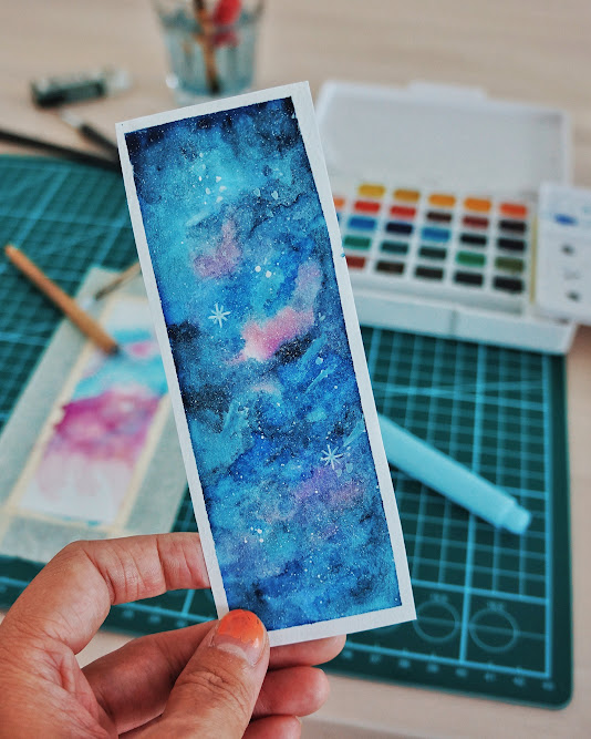watercolor bookmark