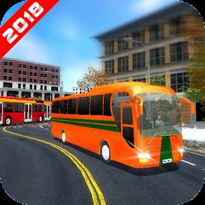 Modern Uphill Luxury Bus Drive