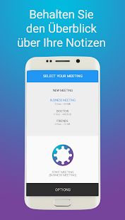 Meeting Notizen Screenshot
