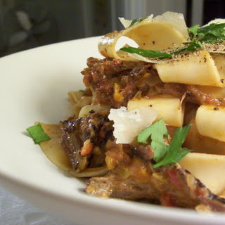 PAPPARDELLE WITH SHORT RIB & PORCINI RAGU