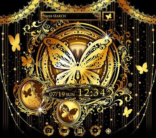 Gold Wallpaper Gothic Butterflies Theme 1.0.0 Windows u7528 1
