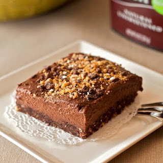 Raw Brownies With Chocolate Banana Frosting