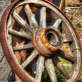 by D.M. Russ - Artistic Objects Other Objects ( wagon wheel, d.m. russ )