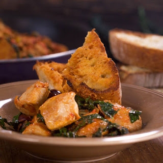 Chicken with Olives, Capers & Kale