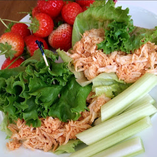 Pulled Buffalo Chicken Wraps