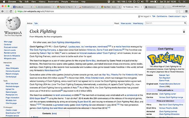 Pokémon to Cock Fighting