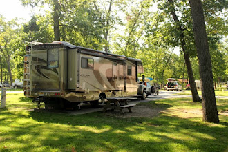 Photo: Our site at Indiana Dunes State Park