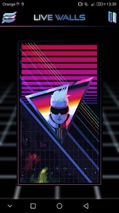 Retrowave Wallpapers - Live Wallpapers,GIF & Radio Screenshot