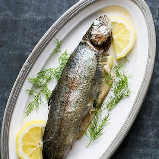 Grilled Trout with Dill and Lemon.
