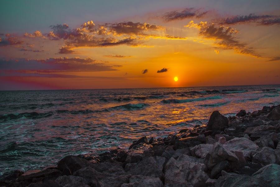 by Venelin Dimitrov - Landscapes Sunsets & Sunrises ( outdoor scenery, sea water, sky, the sun, sunrise,  )