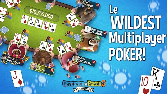 Lorsque vous jouez à Governor of Poker 2, vous serez surpris de découvrir que le jeu est devenu plus amusant grâce à l'ajout d'un meilleur graphisme.