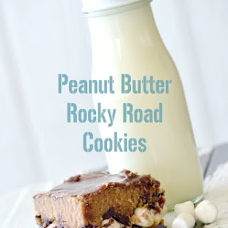 Peanut Butter Rocky Road cookies