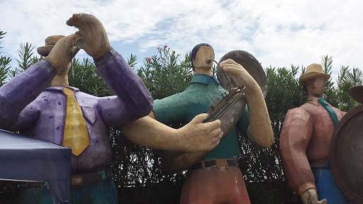 mazatlan-street-art.jpg - Statues of mariachis in Mazatlan, Mexico.