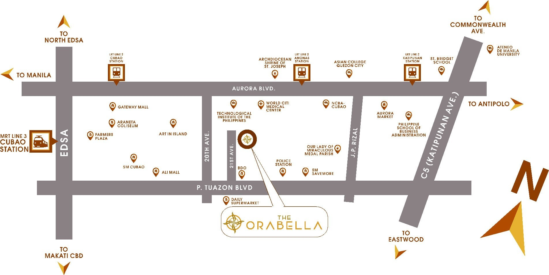 The Orabella, Quezon City location map