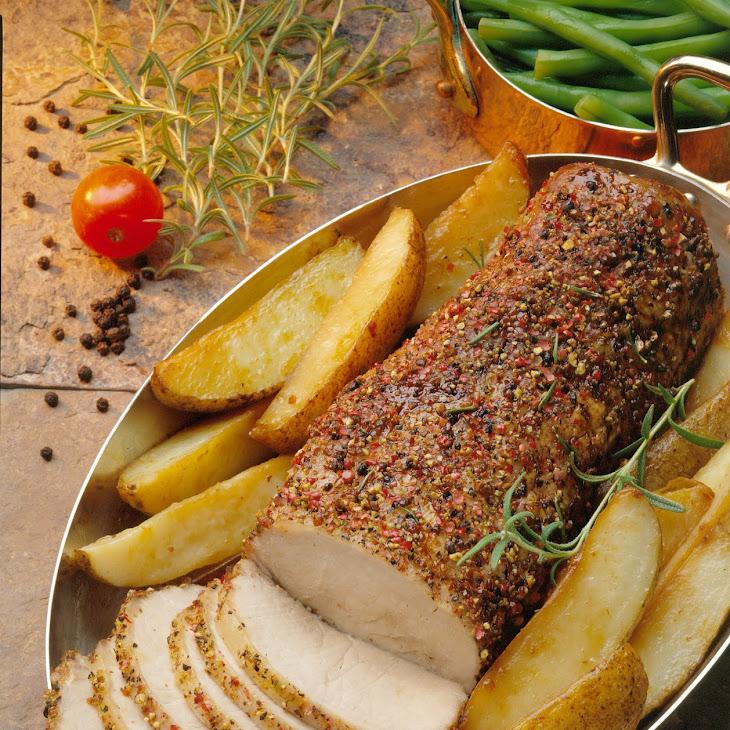 Roasted Peppered Pork Loin Recipe