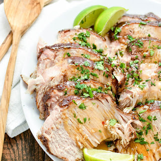 Asian Slow Cooker New York Pork Roast.