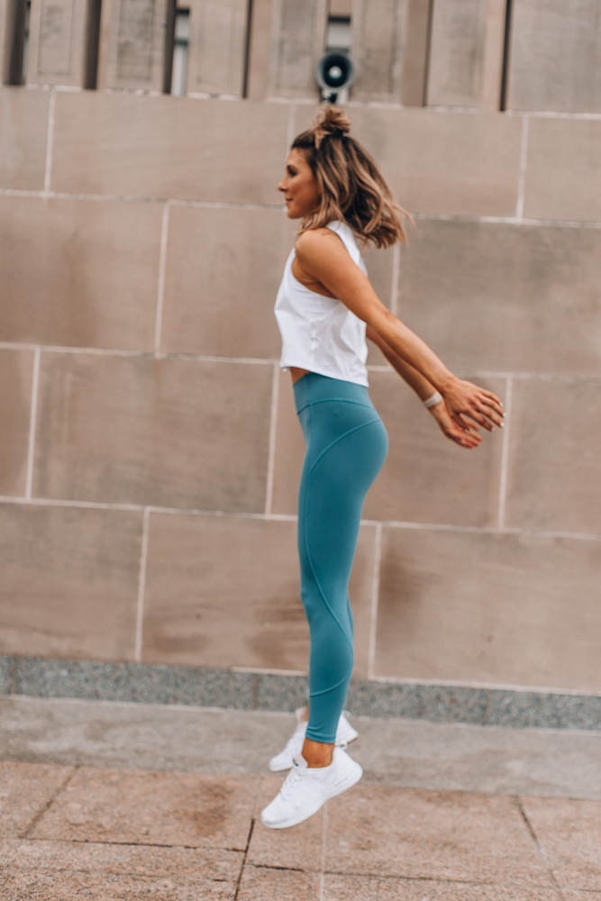 lululemon in movement tights for at home workout routine
