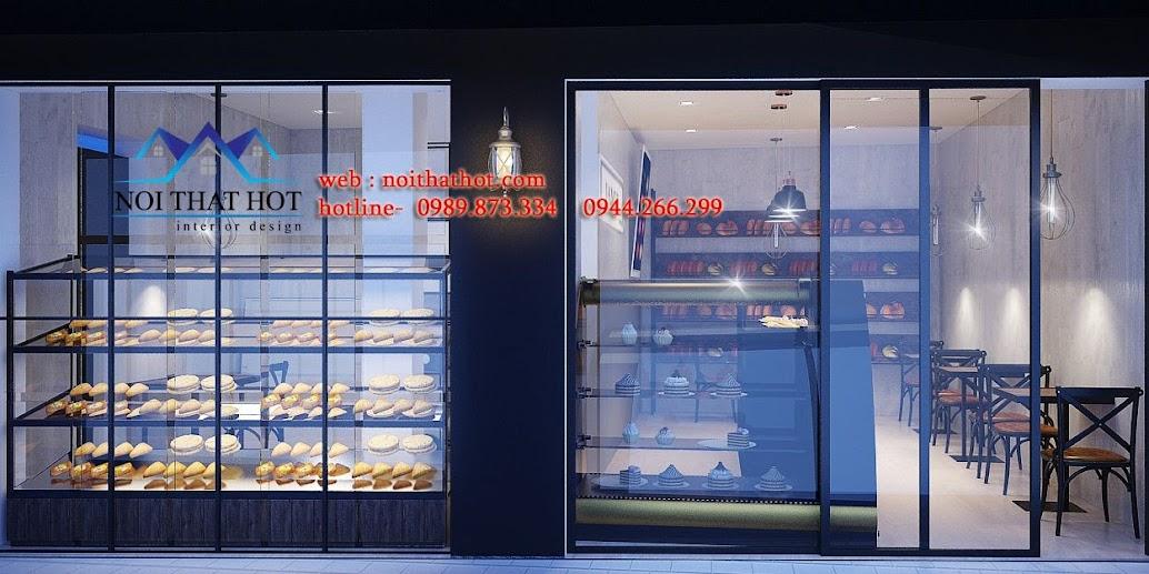 thiết kế cửa hàng bánh ngọt đẹp