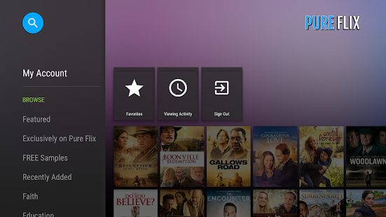 PureFlix (Android TV) - náhled