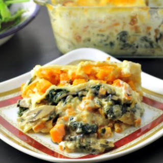 Butternut and Spinach Lasagna For Two