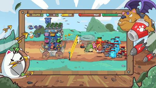 Cat'n'Robot: Idle Defense - Cute Castle TD PVP screenshots 11