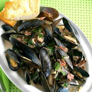 Mussels in Irish Ale.