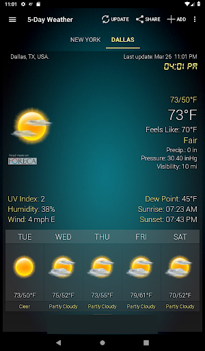 Weather & Clock Widget for Android screenshot 14