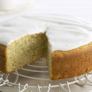 Butter Cake with Vanilla Frosting.