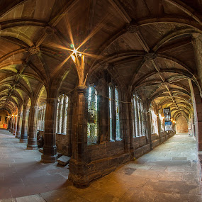 Cloisters @ Chester Cathedral. by Simon Page - Buildings & Architecture Places of Worship