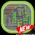 Amplifier circuit board diagram icon