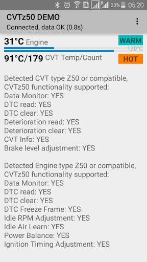 CVTz50 DEMO  screenshots 2