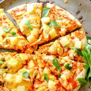Weight Watcher's Buffalo Chicken Pizza.