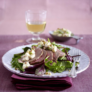 Roast Pork Tenderloin with Waldorf Salad.