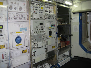 Photo: Interior of the Payload Development Laboratory (i.e. mockup of module on the ISS)