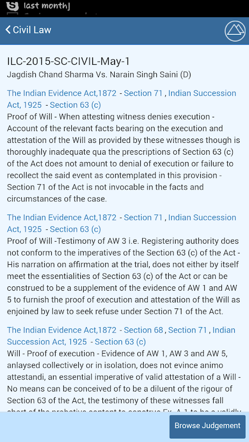 Indian Law Cases- screenshot