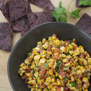Fire Roasted Corn And Tomato Salsa.