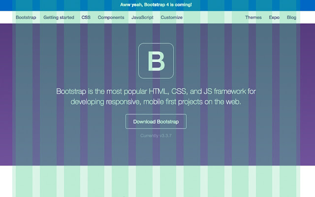 Bootstrap Grid Overlay