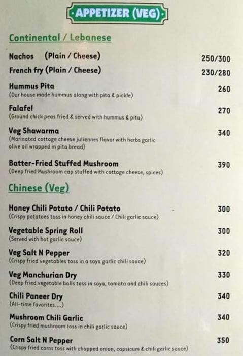Prime Street Cafe menu 3