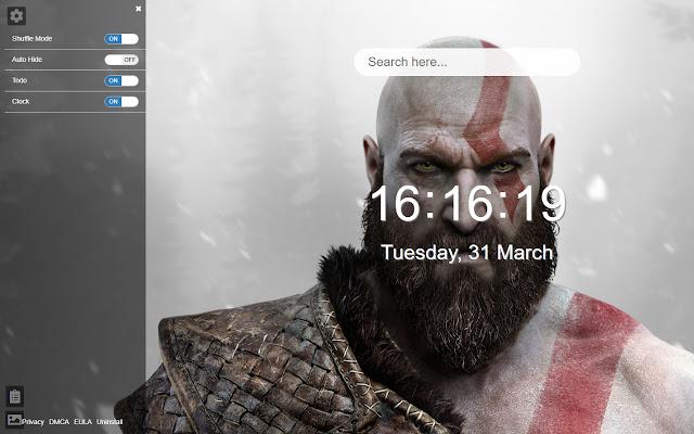 God of War New Tab HD Wallpapers