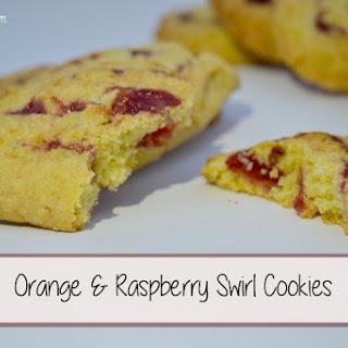 Orange & Raspberry Swirl Cookies