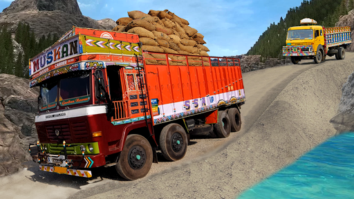 Real Indian Cargo Truck Simulator 2020: Offroad 3D androidiapk screenshots 1