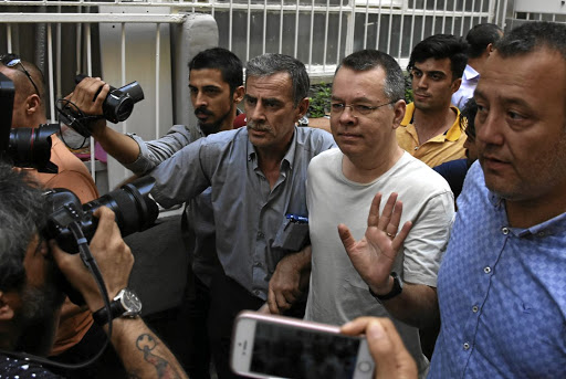 US pastor Andrew Brunson arrives at his home after being released from prison in Izmir, Turkey, on July 25 2018. Picture: DHA VIA REUTERS