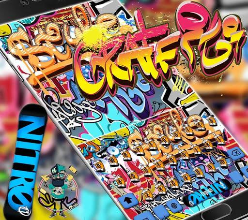 Graffiti Wall Keyboard theme  screenshots 1