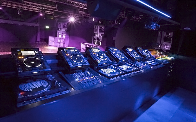 Cabina de la sala The Box en Ministry of Sound